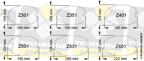 Dimensions Section Mât ZSpars compatible avec verrou plat Z3522
